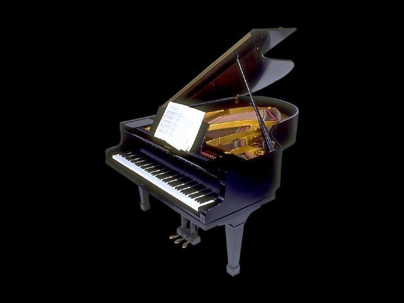 Музыкальные открытки с фортепиано